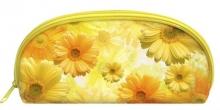 """Пенал-косметичка  """"Солнечные цветы """" 1 отделение на молнии."""