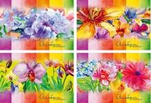 """Альбом для рисования - A4 24 л. """"Цветы"""""""