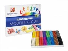 """Пластилин  """"КЛАССИКА"""" 16 цветов,стек, пластиковый вкладыш,  320 гр"""