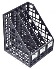 Лоток вертикальный сборный 4 отделения черный