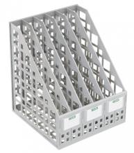 Лоток вертикальный сборный 6 отделений серый