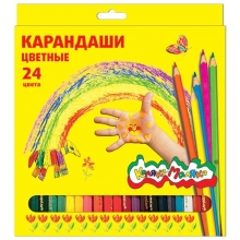 """Карандаши цветные """"Каляка-Маляка"""" 24 цвета"""
