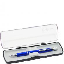 Ручка подарочная автомат Signature 131 синее серебро, 0.7 мм
