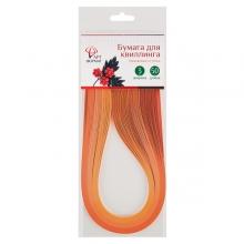 Бумага для квиллинга 3 мм, оранжевые оттенки, 3 цвета, 120 полос