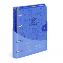 Тетрадь со сменным блоком 120 листов клетка NEON. BLUE А5
