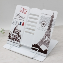 Подставка для книг металлическая Париж открытка MQ105-BL Light grey