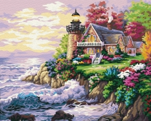 Картина по номерам Живописный маяк 40х50см.