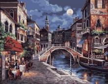 Картина по номерам Ещё одна ночь в Венеции 40х50см.