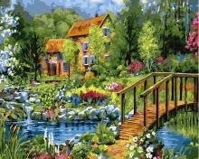 Картина по номерам Загородный пейзаж 40х50см.