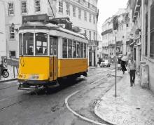 Картина по номерам Желтый трамвай 40х50см.