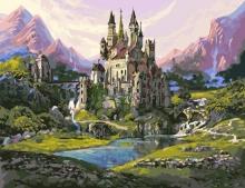 Картина по номерам Замок в горах 40х50см.