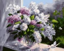 Картина по номерам Сиреневая весна 40х50см.