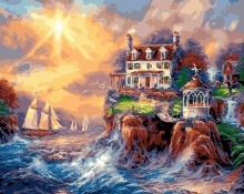 Картина по номерам Райская бухта 40х50см.