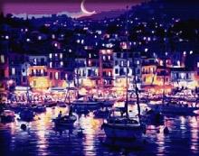 Картина по номерам Ночная гавань 40х50см.