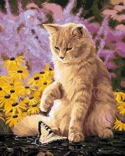 Картина по номерам Ленивый кот 40х50см.
