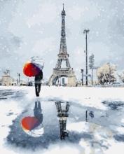 Картина по номерам Зимний париж 40х50см.