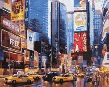 Картина по номерам Таймс сквер. Нью-Йорк 40х50см.
