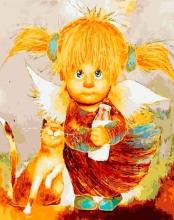Картина по номерам Ангел веры 40х50см.