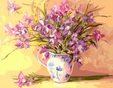Картина по номерам Легкие цветы в вазе 40х50 см.