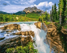Картина по номерам Водопад Санвапта, Канада 40х50см.