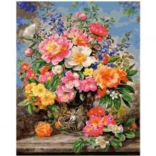 Картина по номерам Сентябрьские цветы 40х50см.