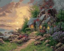 Картина по номерам Волшебный домик у моря 40х50см.