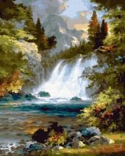 Картина по номерам Шум водопада 40х50см.