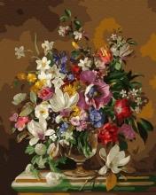 Картина по номерам Натюрморт с букетом цветов 40х50 см.