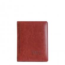 Ежедневник датированный A6 2012 год, 176 л. Тёмно-коричневый