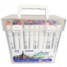 Набор двухсторонних профессиональных маркеров Lanke GM909 для скетчинга, 60 цветов