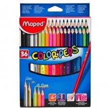 Цветные карандаши трехгранные Maped 36цв.