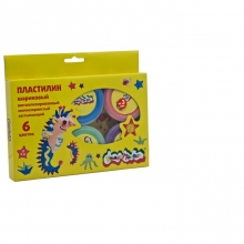 Пластилин шариковый с блёстками, металлизированный, мелкозернистый, 6 цветов
