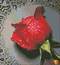 """Картина стразами (набор) """"Красная Роза"""""""