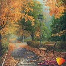 """Картина стразами (набор) """"Осенью в парке"""""""