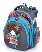 """Школьный ранец Hummingbird Kids ТК19 """"Princess Blossom""""+мешок для обуви"""