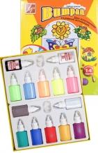 Краски ВИТРАЖ набор 14 цветов
